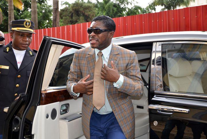 Teodorin Obiang, fils du chef de l'Etat et également vice-président de la Guinée équatoriale, photographié en 2013. (JEROME LEROY / AFP)