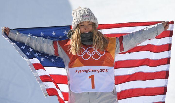A 17 ans Chloé Kim décroche l'or en snowboard half-pipe (LOIC VENANCE / AFP)