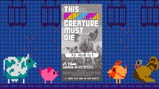Sauvez vaches, cochons, poulets et dindons de l'abattoir avec le jeu vidéo de Morrissey et du PETA.  (peta.org/)