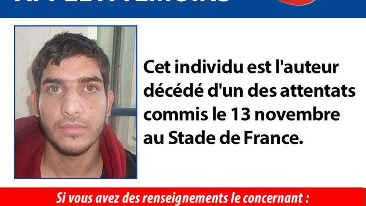 Les enquêteurs continuent à chercher à mettre un nom sur les kamikazes du Stade de France.  (POLICE NATIONALE)