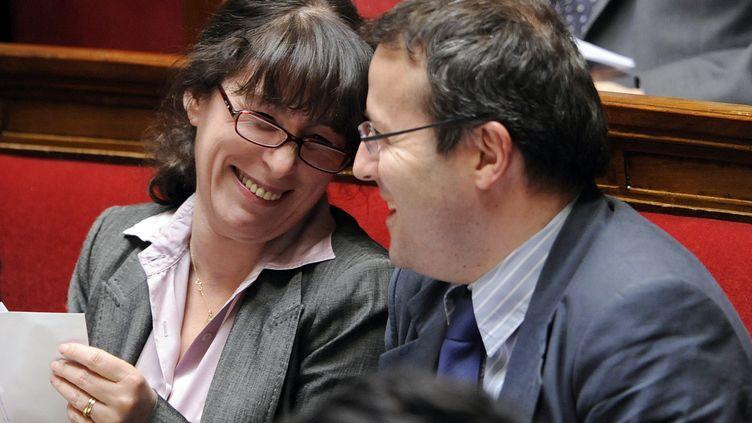 Fadela Amara et Martin Hirsch, à l'Assemblée nationale le 24 mars 2009. (BERTRAND GUAY / AFP)