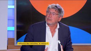 Le député de La France Insoumise Eric Coquerel, le 6 septembre sur la chaîne franceinfo. (FRANCEINFO)