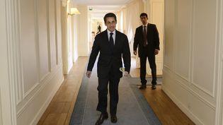 Nicolas Sarkozy, le 12 avril 2012 à l'Elysée (Paris). (ERIC FEFERBERG / AFP )