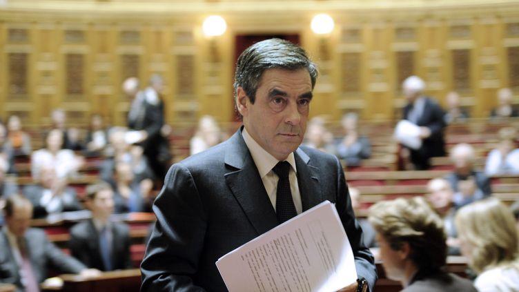 Le Premier ministre, François Fillon, au Sénat, à Paris, le 8 décembre 2011. (BERTRAND GUAY / AFP)