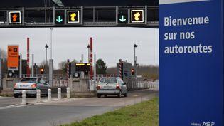 Un péage à Tonnay-Charente (Charente-Maritime), le 28 janvier 2018. (FABRICE RESTIER / AFP)