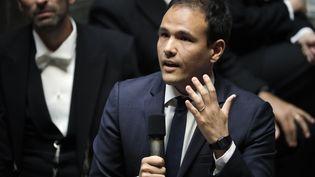 Cédric O, secrétaire d'Etat au numérique, à l'Assemblée nationale, le 21 mai 2019. (THOMAS SAMSON / AFP)