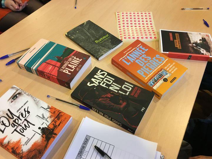 Les livres sélectionnés pour la Pépite Fiction ado 2019 (Laurence Houot / franceinfo Culture)