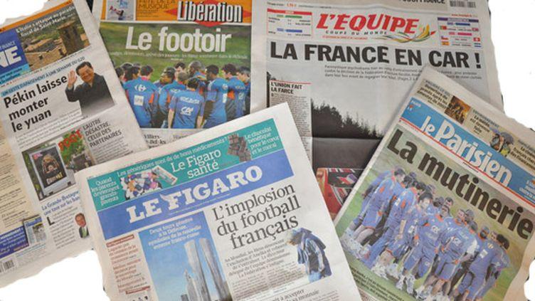 La presse française n'est pas tendre avec les Bleus