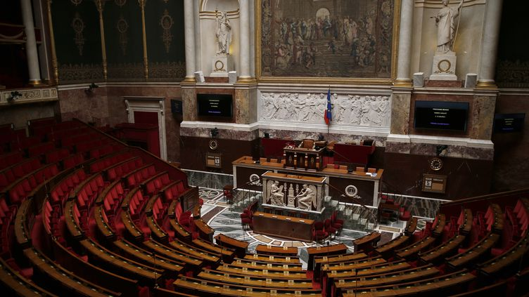 L'hémicycle de l'Assemblée Nationale, à Paris, le 5 juillet 2016. (THOMAS SAMSON / AFP)