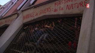 Des opposants au barrage de Sivens, le 9 septembre 2014 à Albi (Tarn). ( FRANCE 2)