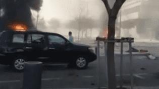 Ces images témoignent de la violence de l'attaque qui a frappé Beyrouth (Liban), vendredi 27 décembre. (AL-JADEED TV / FRANCETV INFO)