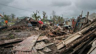 Des habitations détruites à Port-Vila, sur l'archipel du Vanuatu, le 15 mars 2015. (UNICEF PACIFIC / AFP)