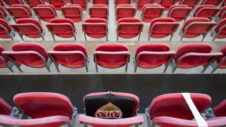 La Mercedes-Benz Arena, stade situé à Stuttgart dans le Land de Bade-Wurtemberg en Allemagne. (MARIJAN MURAT / DPA)