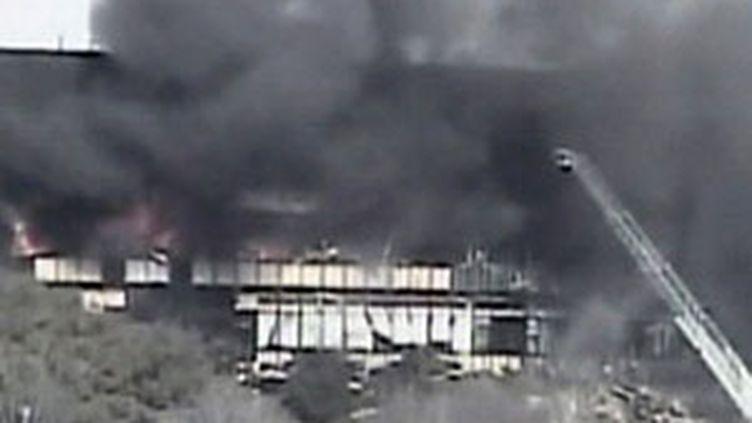 L'immeuble d'Austin où s'est écrasé l'avion de tourisme. 18/02/10 (France 2)