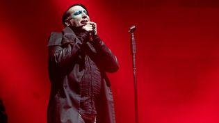 Marilyn Manson sur scène à l'Astroworld Festival, au NRG Stadium le 9 november 2019 à Houston (Texas). (SUZANNE CORDEIRO / AFP)
