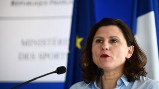 Roxana Maracineanu, ministre des Sports, le 9 mars 2020. (MARTIN BUREAU / AFP)