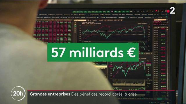 Economie : les grandes entreprises françaises font des bénéfices records malgré la crise sanitaire