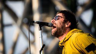 L'ancien chanteur du groupe Oasis, Liam Gallagher, au festival I-Days Area Expo Experience à Milan en 2018. (ROBERTO FINIZIO / NURPHOTO)