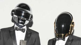Thomas Bangalter et Guy-Manuel de Homem Christo, alias Daft Punk, en juin 2013 à New York.  (neil Rasmus / BFA/SIPAUSA/SIPA)