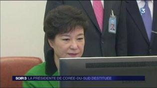 La présidente de la Corée du Sud a été destituée. (FRANCE 3)