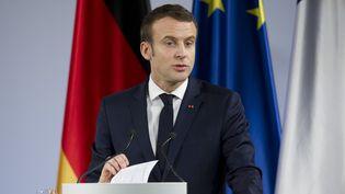 Le président de la République, Emmanuel Macron, le 22 janvier 2019, en Allemagne. (MALTE OSSOWSKI / SVEN SIMON / AFP)