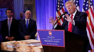 Le président américain élu, Donald Trump, a relancé la polémique, lundi 16 janvier, dans des entretiens à la presse européenne.  (SHANNON STAPLETON / REUTERS / X90052)