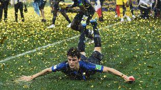 La victoire des Bleus en Coupe du monde va rapporter au football français 32,5 millions d'euros. (FRANCK FIFE / AFP)