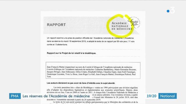 PMA : l'Académie de médecine émet des réserves