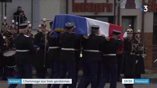 Hommages aux trois gendarmes d'Ambert : une cérémonie qui a ému les habitants