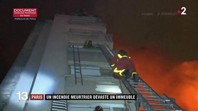 Paris : un incendie meurtrier dévaste un immeuble