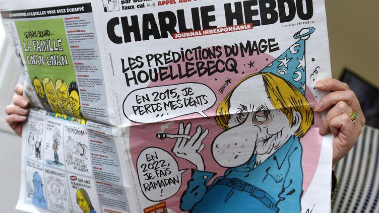 """La une de """"Charlie Hebdo"""", le 7 janvier 2015. (BERTRAND GUAY / AFP)"""