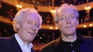 """Les cinéastes belges Luc et Jean-Pierre Dardenne sont les meneurs de la pétition """"L'Exception culturelle n'est pas négociable"""".  (Bertrand Guay / AFP)"""