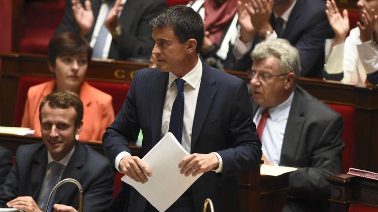 Manuel Valls lors de son discours de politique générale à l'Assemblée nationale, mardi 16 septembre 2014. (ERIC FEFERBERG / AFP)