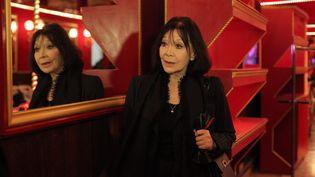 La chanteuse Juliette Greco, 85 ans, a décidé de soutenir François Hollande. Elle a notamment assisté à l'une de ses réunions publiques à Paris, le 18 mars 2012. (OLIVIER CORSAN / LE PARISIEN / MAXPPP)