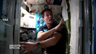 """Le """"crew quarter"""" ou la cabine de Thomas Pesquet (FRANCE 2 / FRANCETV INFO)"""