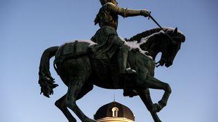 La statue de Jeanne d'Arc à Orélans le 8 février 2018. (CHRISTOPHE ARCHAMBAULT / AFP)
