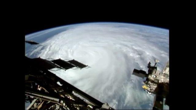 L'ouragan Matthew a été filmé depuis la station spatiale internationale, alors qu'il dévastait la Floride, aux États