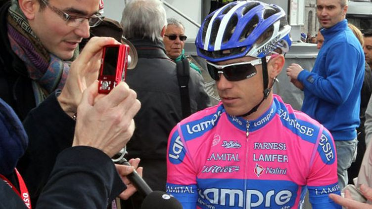 Le cycliste italien Damiano Cunego