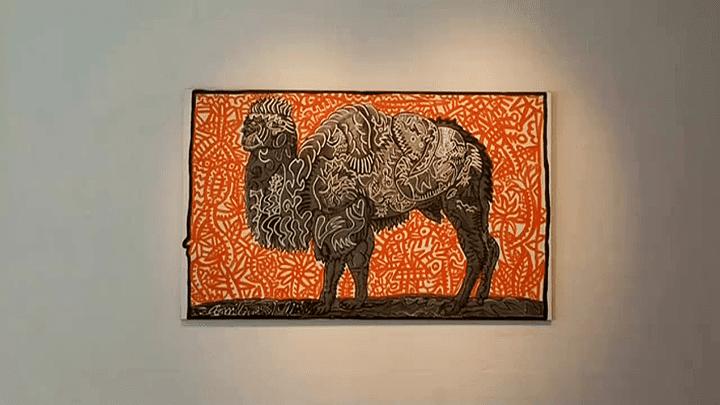 "Oeuvre deLucas Mancione dans l'exposition Combas ""Nos Amis No"" de Brive  (France 3 / Culturebox)"