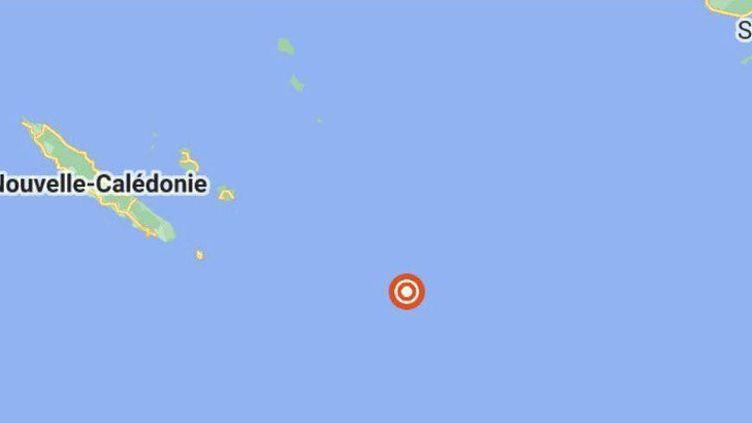 Capture d'écran sur Google Maps des îles Loyauté, situées au sud-est de la Nouvelle-Calédonie. (GOOGLE MAPS)