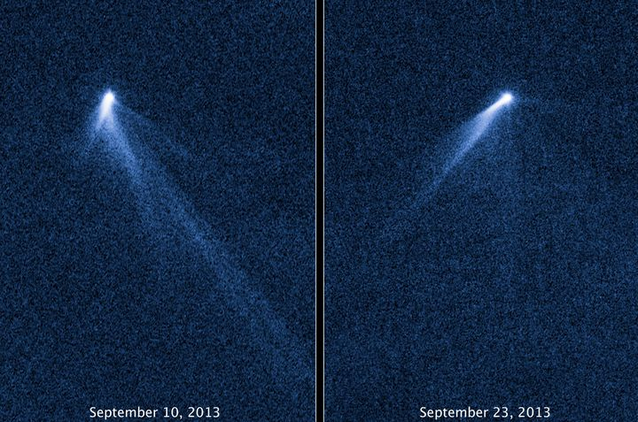 L'astéroïde P/2013 P5, photographié par la Nasa. (NASA / ESA / AFP)