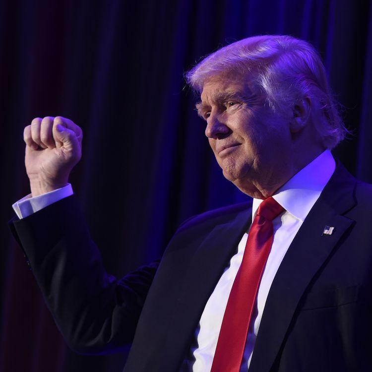 Donald Trump à New York juste après l'officialisation de sa victoire face à Hillary Clinton, le 8 novembre 2016. (SAUL LOEB / AFP)