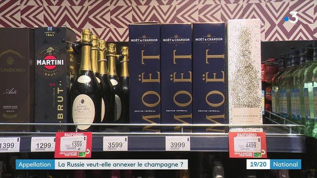 """Russie : le champagne français contraint d'être renommé """"vin mousseux"""""""