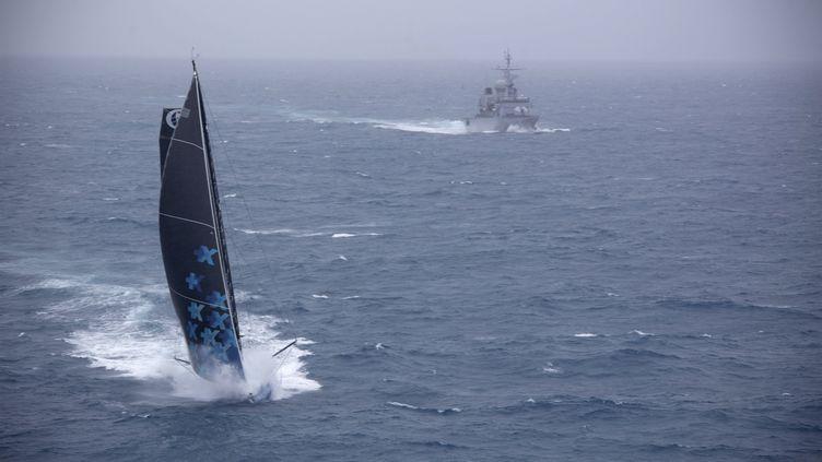 Le bateau Banque Populaire VII d'Armel Le Cleac'h (MARINE NATIONALE / NEFERTITI)