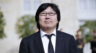 Leprésident du groupe Europe Ecologie - Les Verts au Sénat, Jean Vincent Placé, le 15 mai 2012 à l'Elysée (Paris). (LIONEL BONAVENTURE / AFP)