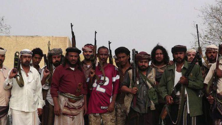 Les milices houthies lors de la prise de la capitale yéménite Sanaa, le 21 janvier 2015. (AFP/ STR)
