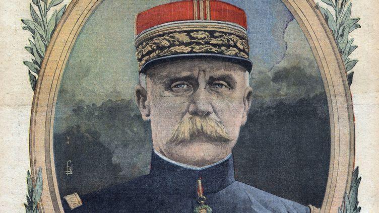 """Un portrait du général Philippe Pétain dans """"Le Petit journal"""", en 1916. (LEEMAGE / AFP)"""