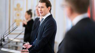 Sebastian Kurz, le chancelier autrichien, le 17 janvier 2021, à Vienne. (GEORG HOCHMUTH / APA)