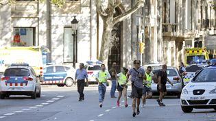 Une fourgonnette a foncé dans la foule à Barcelone, le 17 août 2017. (MAXPPP)