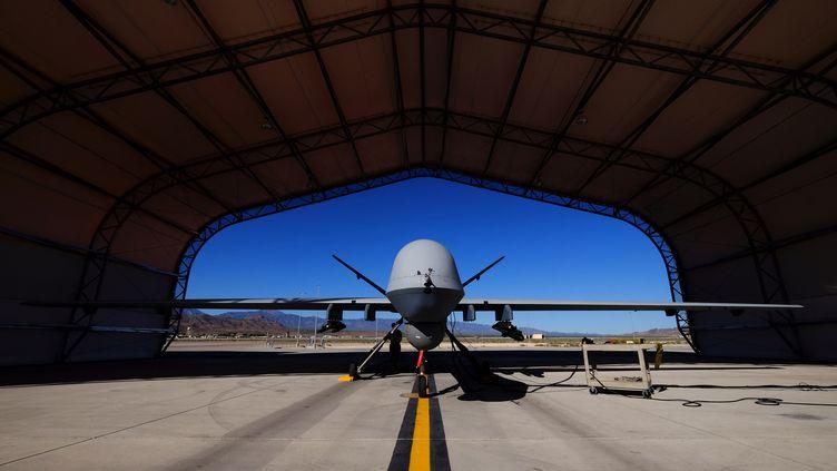Un drone de l'US Air Force sur la base de Creech dans le désert du Nevada le 19 mai 2016. (JOSH SMITH / X06129)